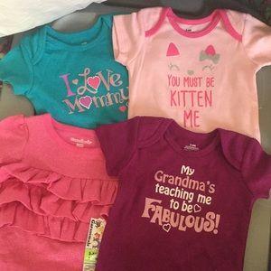 4 new 3-6 month onesie (girl)